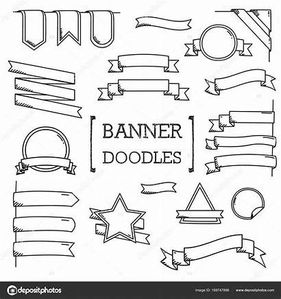 Banner Doodle Doodles Drawing Banners Tattoo Journal