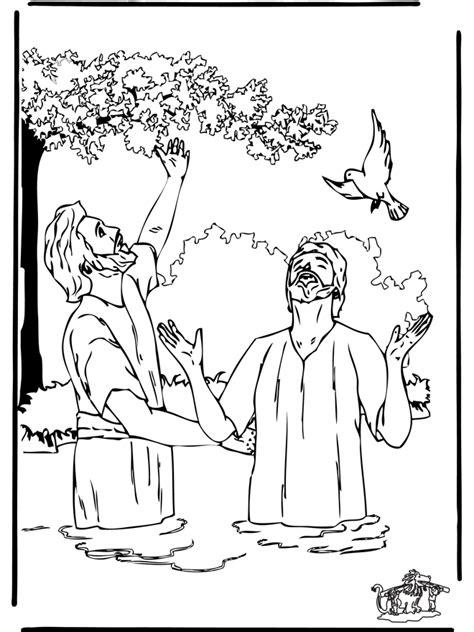 taufe jesus  malvorlagen neues testament