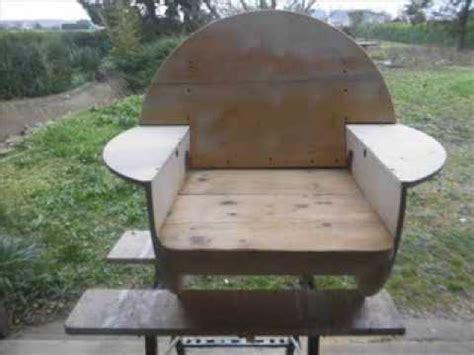 chaise 3 en 1 touret recyclé en fauteuil