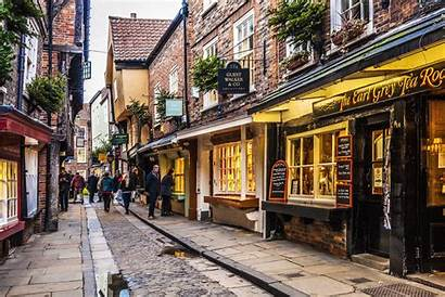 Street York Shambles Centre Medieval Streets England