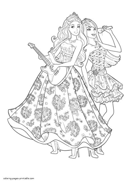 printable barbie popstar colouring pages coloring pages