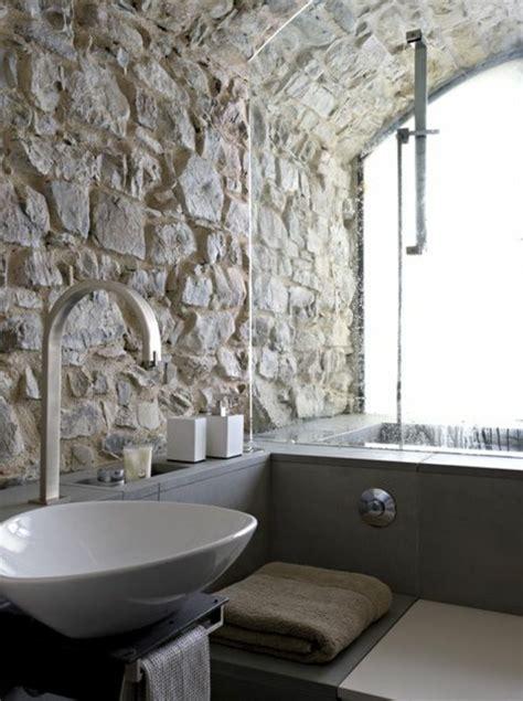 mur salle de bain le mur en apparente en 57 photos