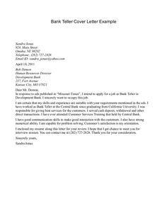 Cover Letter Teller Position by Sle Cover Letter For Bank Teller Position Sle