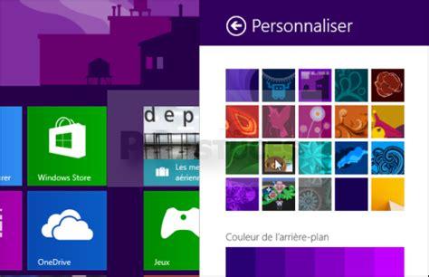 personnaliser bureau windows 8 personnaliser l 39 arrière plan de l 39 écran d 39 accueil
