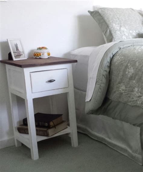 Farmhouse Nightstand by White Farmhouse Nightstand Diy Projects