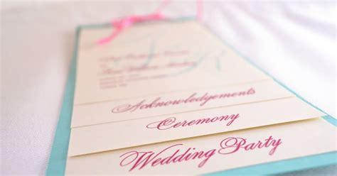 pink  blue wedding program  printable wedding