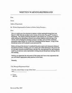 sample letter of reprimand template pictures to pin on With letter of reprimand template