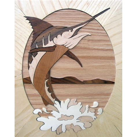 marquetry kit fish marlin