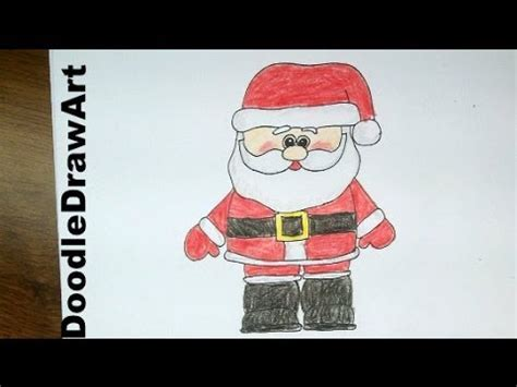 best drawi g of santa clause with chrisamas tree drawing how to draw a santa claus easy