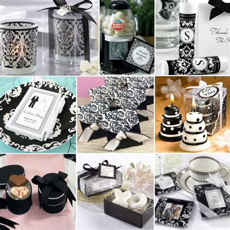 wedding favors black and white theme how to plan a black and white wedding