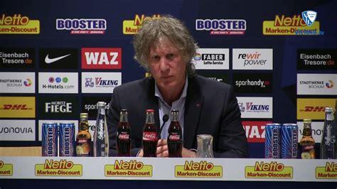 Die Pressekonferenz Nach Der Partie Vfl Bochum 1848 Dsc