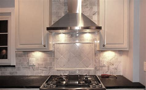 kitchen backsplash metal medallions white marble subway backsplash tile backsplash com