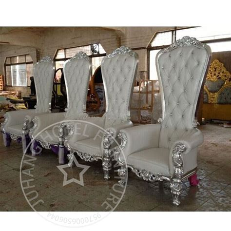 wholesale fancy white wedding king throne chair  sale