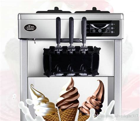 mini soft ice cream machine commercial ice cream cone machine energy saving automatic