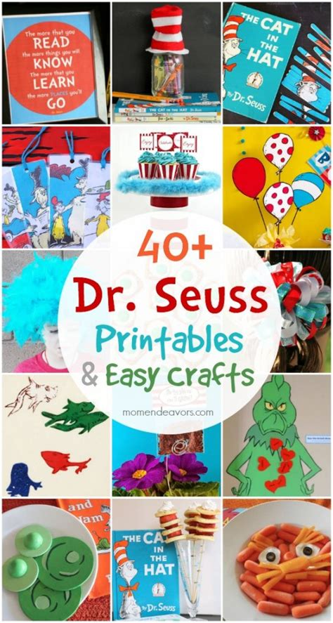 dr seuss printables easy crafts