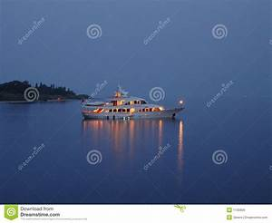 Night boat trip stock image. Image of trip, summer, light ...
