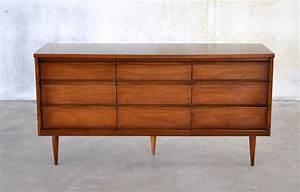 Select, Modern, Mid, Century, Triple, Dresser, Credenza