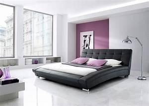 stunning chambre a coucher mauve et noir images With deco chambre lit noir