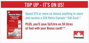 Shoppers Drug Mart – Petro Canada Gift Card When You Spend $75