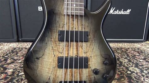 ibanez gsr205sm ngt 5 string bass guitar review youtube