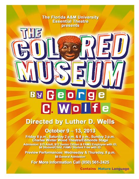 the colored museum the colored museum presented by the essential theatre