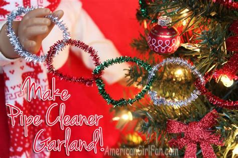doll craft    pipe cleaner christmas garland