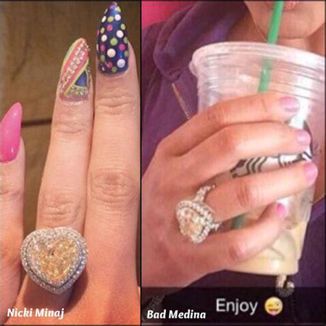 nicki minaj bad medina ring diamonds and natural