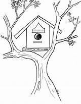 Bird Coloring Birdhouse Pages Drawing Sheet Colors Sheets Incoming Favorite Posts Getdrawings Popular sketch template