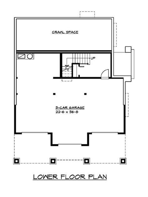 garage floorplans craftsman bungalow home with 3 bedrooms 2675 sq ft
