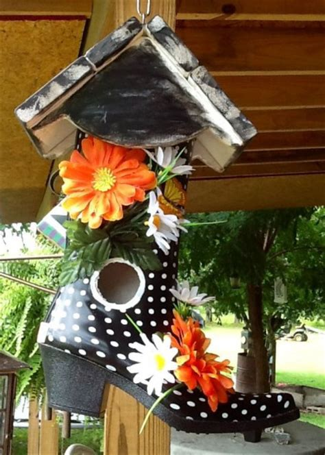 hometalk  trendy shoe birdhouses