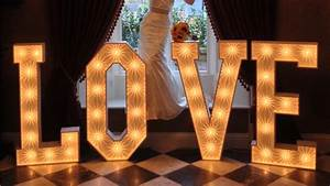 light up love letters the word is love With floor standing light up letters