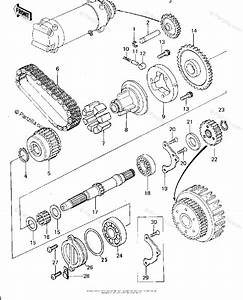 Kawasaki Motorcycle 1978 Oem Parts Diagram For Secondary