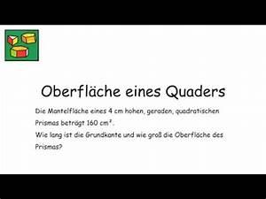 Prismen Berechnen 8 Klasse : oberfl che des quaders umkehraufgabe prismen ~ Themetempest.com Abrechnung