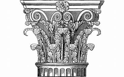 Corinthian Column Drawing Support Drawings Mansion Paintingvalley