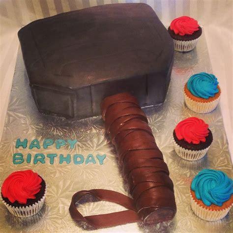 thors hammer chocolate cake  chocolate custard