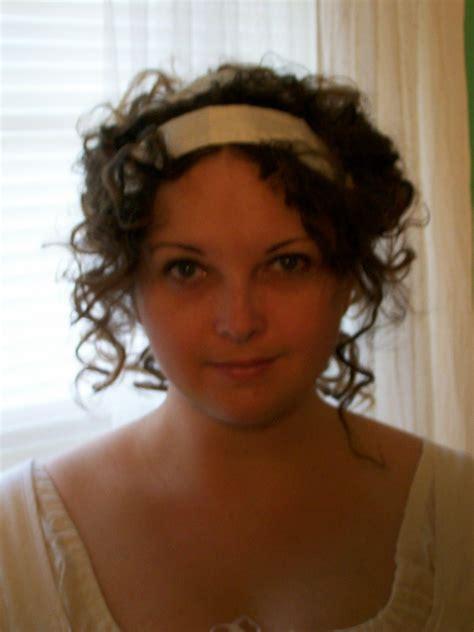 regency hairstyle  ribbon costume tutorials