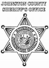 Badge Sheriff Coloring County Johnston Police Under sketch template