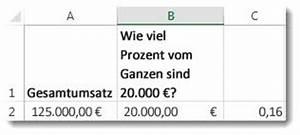 Excel Prozentualen Anteil Berechnen : berechnen von prozentwerten excel ~ Themetempest.com Abrechnung