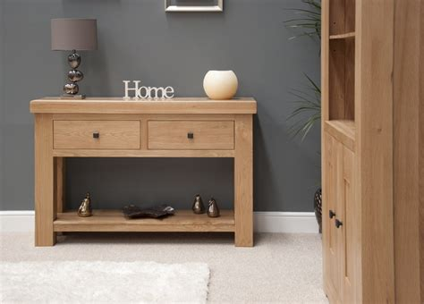 furniture for the hallway belgrave solid premium oak hallway furniture console hall table ebay