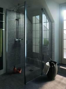 suite parentale avec salle de bain et dressing dans les With porte de douche coulissante avec vasque salle de bain beton ciré