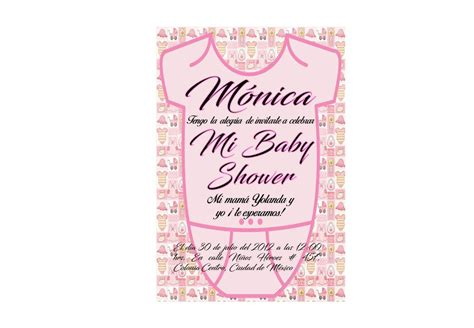 invitaciones baby shower imprimibles 120 00 en mercado libre
