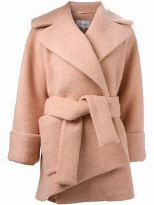 carven robe style coat in pink lyst With robe carven