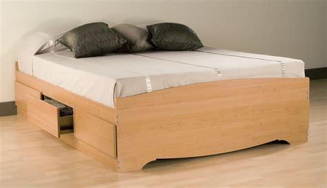 platform beds with drawers prepac maple platform storage bed 6 drawers