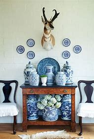 Decorating with Blue and White Ginger Jars
