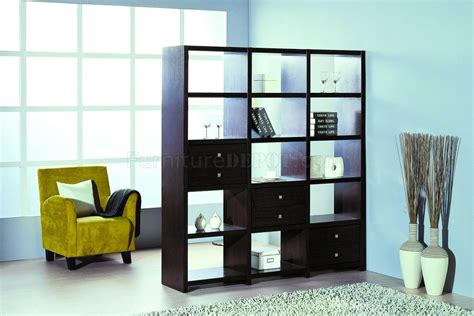 Contemporary Shelf Unitroom Divider Wadditional Drawers