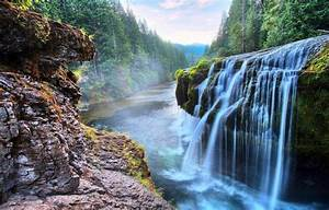 Canyon, Waterfall, River, Forest, Nature, Landscape, Dusk, Wallpapers, Hd, Desktop, And, Mobile
