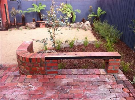 brick paving patio bench and bench seat on