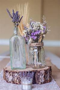 dried lavender centerpieces rustic country decor With lilac table decorations wedding tables