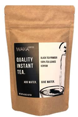 Waka coffee has been sitting in the corner of my cubicle, gathering resentment. Caffeine in Waka Instant Tea