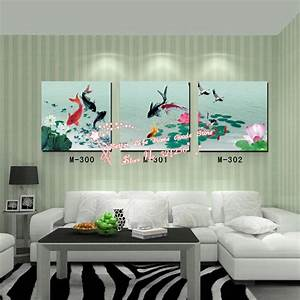 compare prices on koi pond painting online shopping buy With what kind of paint to use on kitchen cabinets for wall art oil paintings canvas